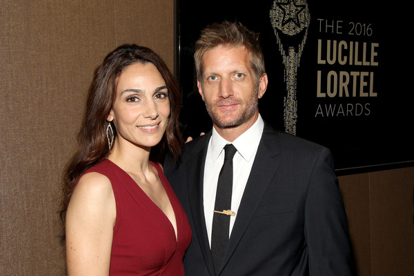 Paul Sparks and Annie Parisse at The LUCILLE LORTEL Awards 2016