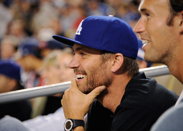 Paul Walker Actor Paul Walker attends the basbeall game between the