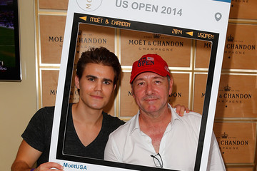 Paul Wesley The Moet & Chandon Suite At The 2014 US Open - September 6
