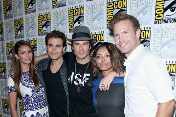 "Paul Wesley Nina Dobrev ""The Vampire Diaries"" Press Line - Comic-Con International 2014"