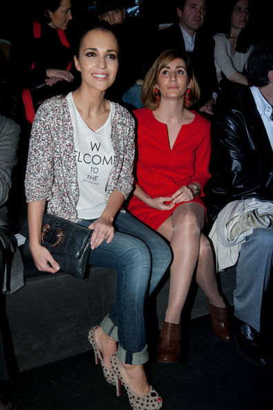 Celebrities Attend Cibeles Fashion Week A/W 2011 - Day 2