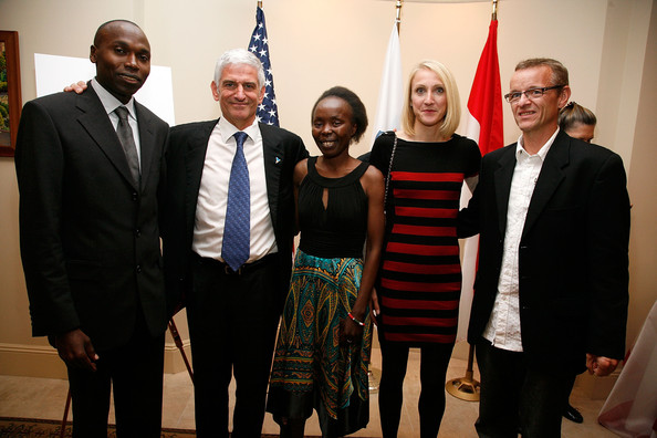 Monaco's Ambassador To The USA Gilles Noghes And Consul General Maguy Maccario Co-Host A VIP Reception For Champions Of Peace And Guests From The Monaco-Based Peace & Sports Attending Their First ING New York City Marathon