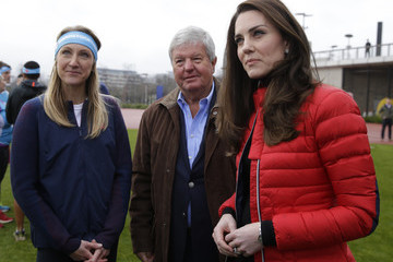 Paula Radcliffe The Duke & Duchess of Cambridge and Prince Harry Join Team Heads Together at a London Marathon Training Day