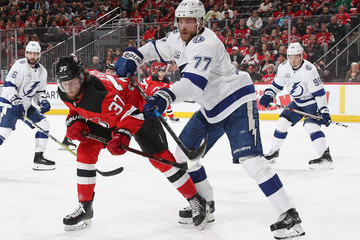 Pavel Zacha Tampa Bay Lightning Vs. New Jersey Devils - Game Three