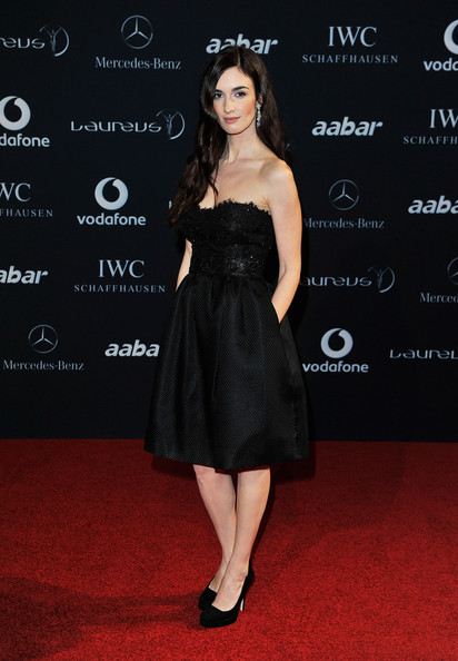 Paz Vega Actress Paz Vega attends the 2011 Laureus World Sports Awards at the Emirates Palace on February 7, 2011 in Abu Dhabi, United Arab Emirates.