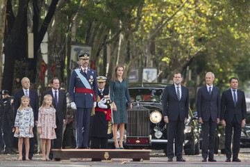 Pedro Morenes Spanish Royals Attend National Day Military Parade 2014