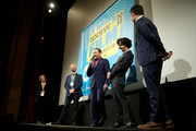 "Paul Reubens, Judd Apatow, Paul Rust and John Lee attend the premiere of ""Pee-wee's Big Holiday"" during the 2016 SXSW Music, Film + Interactive Festival at Paramount Theatre on March 17, 2016 in Austin, Texas."