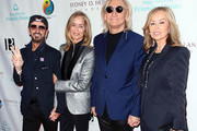 (L-R) Ringo Starr, Barbara Bach Starkey, Joe Walsh and Marjorie Bach Walsh attend the Peggy Albrecht Friendly House's 29th Annual Awards Luncheon at The Beverly Hilton Hotel on October 27, 2018 in Beverly Hills, California.