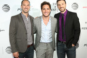 """(L-R) Jeff Zimbalist, Diego Boneta and Michael Zimbalist attend the """"Pele: Birth of a Legend"""" Premiere during the 2016 Tribeca Film Festival at BMCC John Zuccotti Theater on April 23, 2016 in New York City."""