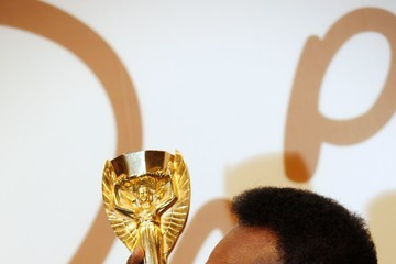 Pele Pele Attends an Auction Preview of His Memorabilia in London
