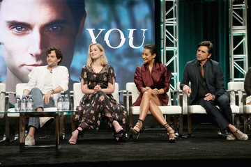 """Penn Badgley Shay Mitchell The Cast and Creatives of """"YOU"""" at The 2018 Summer Television Critics Association Press Tour"""