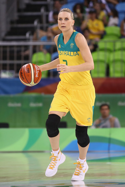 Basketball - Olympics: Day 8 [player,sports,basketball player,sports equipment,ball game,tournament,sport venue,team sport,basketball court,basketball moves,penny taylor,womens,olympics,ball,australia,rio de janeiro,brazil,belarus,group a basketball match,rio 2016 olympic games]
