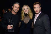 (L-R) Actor Taylor Kinney, winner of the award for Favorite Dramatic TV Actor, actress Natalie Dormer and actor Ed Westwick attend the People's Choice Awards 2016 at Microsoft Theater on January 6, 2016 in Los Angeles, California.