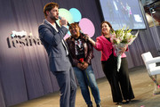 William Levy, superfan Luz Subervi, and Maria Morales speak on stage during People en Español 6th Annual Festival to Celebrate Hispanic Heritage Month - Day 2 on October 06, 2019 in New York City.