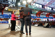 William Levy, superfan Luz Subervi and Maria Morales speak on stage during People en Español 6th Annual Festival to Celebrate Hispanic Heritage Month - Day 2 on October 06, 2019 in New York City.