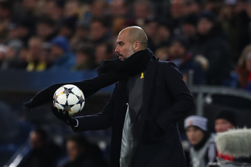 Pep Guardiola FC Basel v Manchester City - UEFA Champions League Round of 16: First Leg