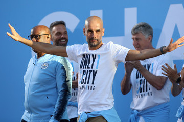Pep Guardiola Manchester City Trophy Parade