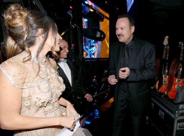Backstage at the Latin Grammy Awards