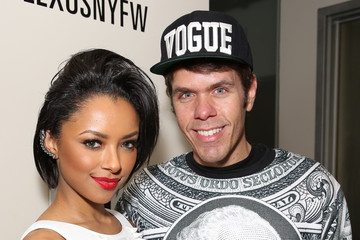 Perez Hilton Kat Graham The Blonds - Backstage - MADE Fashion Week Fall 2014