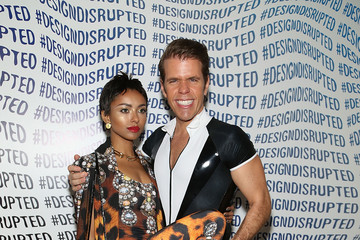 Perez Hilton Kat Graham The Blonds - Backstage - MADE Fashion Week Spring 2015