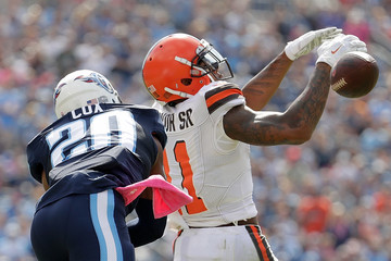 Perrish Cox Cleveland Browns v Tennessee Titans