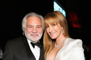 David Green (L) and Jane Seymour attend the 26th annual Elton John AIDS Foundation Academy Awards Viewing Party at The City of West Hollywood Park on March 4, 2018 in West Hollywood, California.