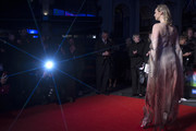 """A Starburst filter has been used) Gwendoline Christie attends """"The Personal History Of David Copperfield"""" European Premiere & Opening Night Gala during the 63rd BFI London Film Festival at the Odeon Luxe Leicester Square on October 02, 2019 in London, England."""
