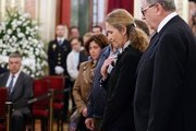 Princess Elena attends the ardent chapel of former Vice President of the Government Alfredo Pérez Rubalcaba, installed in the Congress of Deputies in Madrid, Spain