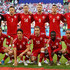 Nicolai Jorgensen Jens Stryger Larsen Photos - The Denmark team line up ahead of the 2018 FIFA World Cup Russia group C match between Peru and Denmark at Mordovia Arena on June 16, 2018 in Saransk, Russia. - Peru vs. Denmark: Group C - 2018 FIFA World Cup Russia