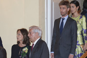 (L-R) Isabel Preysler, Mario Vargas Llosa, Prince Christian of Hannover and Alessandra de Osma attend a reception offered by Peruvian president Martin Alberto Vizcarra in honour of King Felipe VI of Spain and Queen Letizia of Spain at El Pardo Palace on  February 28, 2019 in Madrid, Spain.
