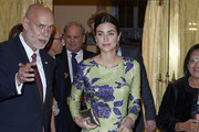 Alessandra de Osma attends a reception offered by Peruvian president Martin Alberto Vizcarra in honour of King Felipe VI of Spain and Queen Letizia of Spain at El Pardo Palace on  February 28, 2019 in Madrid, Spain.