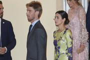 Prince Christian of Hannover and Alessandra de Osma attend a reception offered by Peruvian president Martin Alberto Vizcarra in honour of King Felipe VI of Spain and Queen Letizia of Spain at El Pardo Palace on  February 28, 2019 in Madrid, Spain.