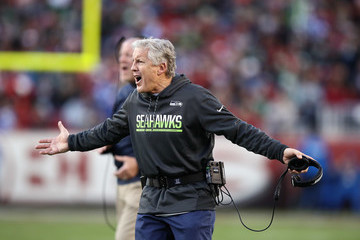 Pete Carroll Seattle Seahawks v San Francisco 49ers