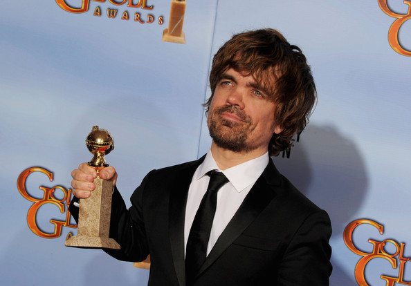 69th Annual Golden Globe Awards - Press Room [motion picture,mini-series,best performance by an actor in a supporting role,award,facial hair,premiere,beard,moustache,series,peter dinklage,award,room,press room,made for television,golden globe awards]