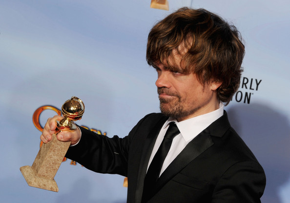 69th Annual Golden Globe Awards - Press Room [motion picture,mini-series,best performance by an actor in a supporting role,ear,series,peter dinklage,award,room,press room,made for television,golden globe awards]