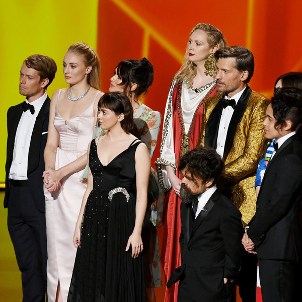 71st Emmy Awards - Social Ready Content [image,event,formal wear,premiere,fun,performance,suit,carpet,flooring,maisie williams,lena headey,gwendoline christie,alfie allen,sophie turner,peter dinklage,content,l-r,emmy awards]