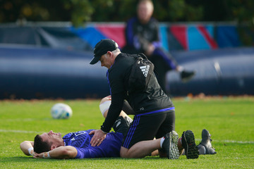 Peter Gallagher New Zealand All Blacks Training Session