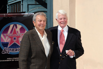 Mike Connors Peter Graves Honored At The Hollywood Walk Of Fame