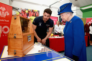 Peter Higgs The Queen and Prince of Wales Visit The Prince's Trust Centre