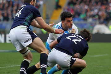 Peter Horne Italy v Scotland - RBS Six Nations