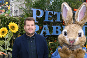 "Actor James Corden attends the UK Gala Premiere of ""Peter Rabbit"" at the Vue West End on March 11, 2018 in London, England."