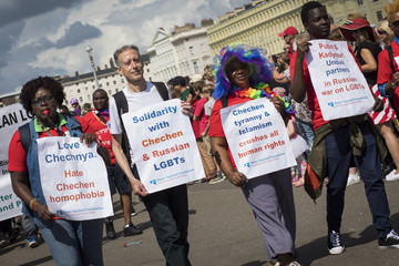 Peter Tatchell Brighton Pride Parade and Festival
