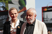 Maxine Peake and Mike Leigh walk the red carpet ahead of the 'Peterloo' screening during the 75th Venice Film Festival at Sala Grande on September 1, 2018 in Venice, Italy.