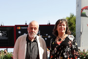Mike Leigh and  Marion Bailey walk the red carpet ahead of the 'Peterloo' screening during the 75th Venice Film Festival at Sala Grande on September 1, 2018 in Venice, Italy.