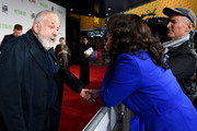 """Mike Leigh attends the UK Premiere of """"Peterloo"""" at HOME during the 62nd BFI London Film Festival on October 17, 2018 in Manchester, England."""