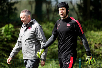 Petr Cech Arsenal Training And Press Conference