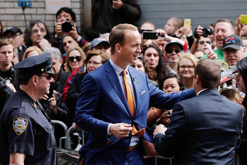 Peyton Manning Celebrities Visit 'The Late Show With David Letterman'