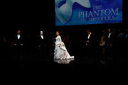 """Sierra Boggess and Hugh Panaro (2nd from Left) attend """"The Phantom of the Opera"""" attend """"The Phantom Of The Opera"""" Broadway 25th Anniversary at Majestic Theatre on January 26, 2013 in New York, New York."""