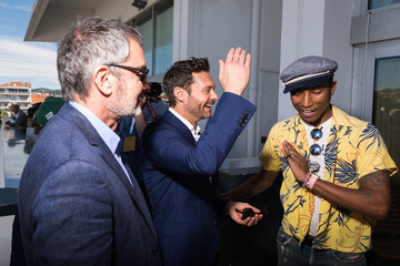Pharrell Williams iHeartMedia Hosts Main Stage Fireside Chat About Creativity With Ryan Seacrest and Pharrell Williams