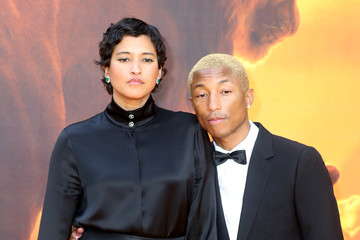 Pharrell Williams Helen Lasichanh 'The Lion King' European Premiere - Red Carpet Arrivals